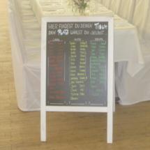 StuhlHussenWorld Sitzplan für Hochzeit im Stadl des Waldhaus zur alten Tram in Strasslach